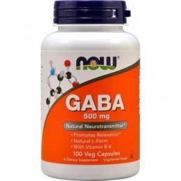 GABA 500 mg NOW 100 веган капс